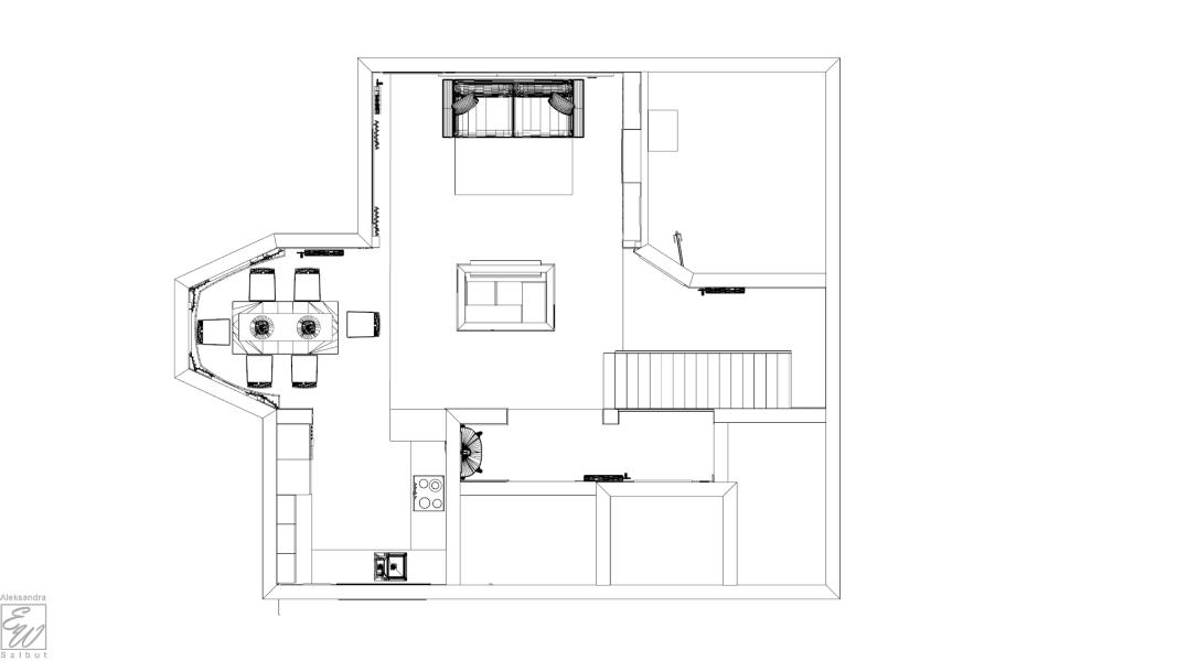 projekt domu rzut
